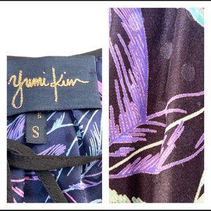 Yumi Kim Dresses - Yumi Kim Silk Leaf Print Drawstring Waist Dress